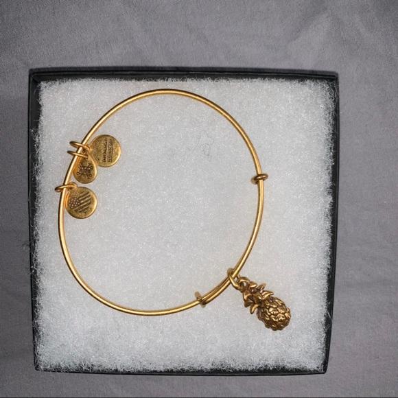 Alex and ani gold pineapple bracelet